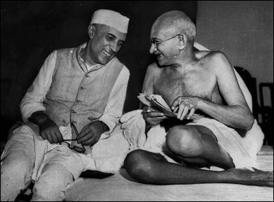 Gandhiji with Jawaharlal Nehru