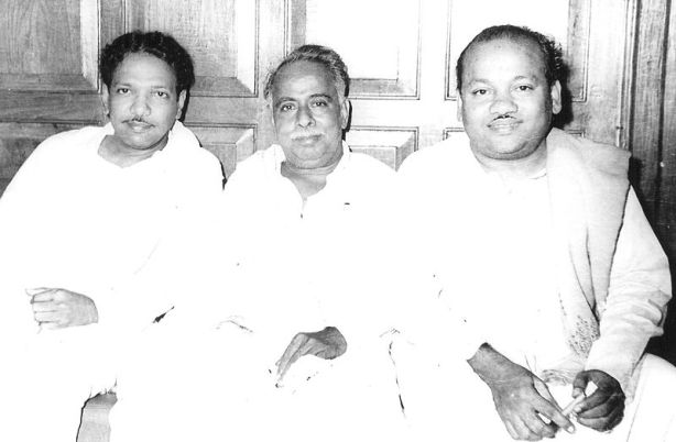 K_A_Mathialagan_and_Karunanidhi_with_Anna